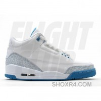 WS Air Jordan Retro 3 White Harbor Blue Boarder Blue 315296-142 Cheap To Buy XrFAx2