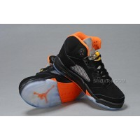 Jordan 5 V GS Black Orange Silver