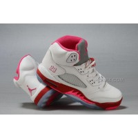 Air Jordan 5 V GS White Legacy Red Pink