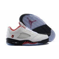 """Air Jordan 5 Low """"Fire Red"""" PE White/Fire Red-Black 2016 For Sale"""