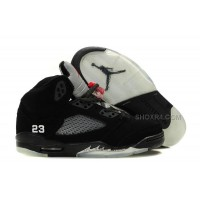 Air Jordan 5 (V) Retro Black/Metallic Silver-Varsity Red