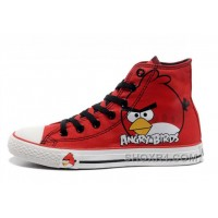 All Star CONVERSE Angry Birds Red High Tops Chuck Taylor Sneaker For Sale YSMFs