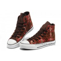 CONVERSE Chinese Year All Star Snake Texture Brown Red High Tops Canvas Sneakers Online KbPmA