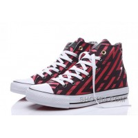CONVERSE Chuck Taylor All Star Geometry Print Black Red High For Sale Na774