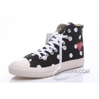 Black Hi CONVERSE Comme Des Garcons Polka Dot Play Chuck Taylor Super Deals FMmjE