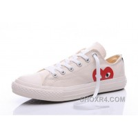 CONVERSE White Comme Des Garcons Play Chuck Taylor Sneakers Hot Now N4jhc