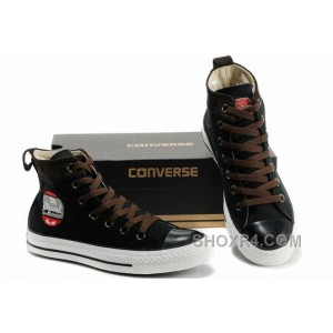 Cool CONVERSE Black High Ps Embroidery Chucks All Star Canvas Brown Suede Easy Slip Cheap To Buy AkHWZ