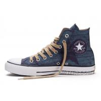 Blue CONVERSE All Star Print Chuck Taylor Stonewashed Canvas High Ps Shoes Cheap To Buy RK2tB