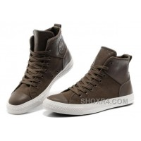 CONVERSE Chuck Taylor All Star City Lights Brown High Tops Leather Canvas Sneakers Super Deals RNkAB