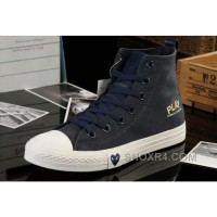 Blue High Tops CONVERSE All Star Light Comme Des Garcons Play Canvas Shoes Free Shipping Ye4ZR