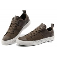 CONVERSE All Star City Lights Brown Tops Leather Chuck Taylor Canvas Sneakers Online M35t8