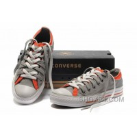 Grey Orange CONVERSE Double Upper Tongue All Star Chuck Taylor Tops Canvas Casual Shoes Online BiQs7