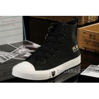 Black High Tops CONVERSE All Star Light Comme Des Garcons Play Canvas Shoes For Sale PRHiG