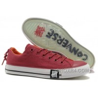 Undefeated CONVERSE All Star Tops Wine Red Canvas Clear Rubber Soles Free Shipping Xeeea