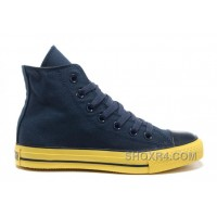 Korea Edition Navy CONVERSE High Ps CT AS Specialty Foxing OX Yellow Sole Canvas Shoes Cheap To Buy ZMcEt