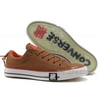 Undefeated CONVERSE All Star Tops Khaki Canvas Clear Rubber Soles Online 4ZA7Q