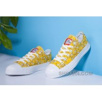 Yellow CONVERSE X The Simpsons Chuck Taylor All Star Canvas Free Shipping ZHjBj