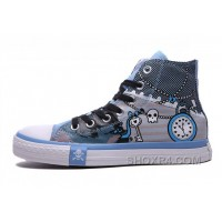 Blue High Tops CONVERSE Chuck Taylor Punk Skull Pirate All Star Lastest Mb6GY
