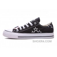 Black CONVERSE Star Embroidery Chuck Taylor All Star Canvas Shoes Lastest 4wdYn