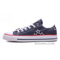 Blue CONVERSE Star Embroidery CT All Star Canvas Shoes Hot Now JkZM6