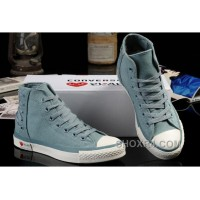 Ultimate Edition Light Blue CONVERSE Comme Des Garcons Play Chuck Tayloar All Star High Tops Canvas Sneakers Discount HtX8K