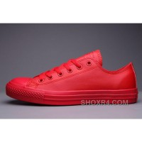 Classic All Star All Red CONVERSE Chuck Taylor All Star Leather Low Free Shipping JxiN8