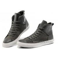 Grey CONVERSE Chuck Taylor All Star City Lights High Tops Black Leather Canvas Sneakers Online TTexN