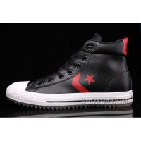 All Star Black High Tops Leather CONVERSE Padded Collar Shoes Authentic R8Ysm