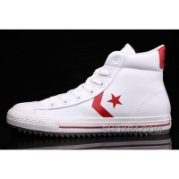 White Leather CONVERSE Padded Collar Korea CT All Star High Tops Shoes Lastest DTeYA