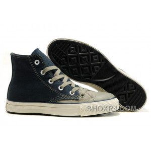 High Tops CONVERSE Christmas Collection Blue Grey Tonal Stitching Polk Canvas All Star Shoes Lastest Hy3eJ