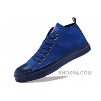 Blue CONVERSE British Union Flag Mid Tops Chuck Taylor All Star Canvas Sneakers Hot Now FjN8r