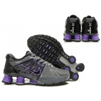 Nike Shox Agent Grey Black Purple Shoes