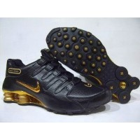Nike Shox NZ Plating Black Gold Leather