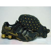 Nike Shox NZ Line Imagery Black Yellow Gold