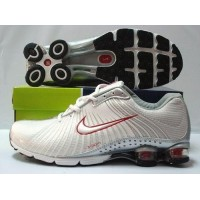 Nike Shox R4 Cream Metallic Silver Red White