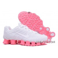Nike Shox TLX Women Shoes 2018 New White Pink Super Deals
