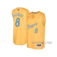 Men's Denver Nuggets #8 Danilo Gallinari Gold 2016 Christmas Day NBA Swingman Jersey Top 2b4rK