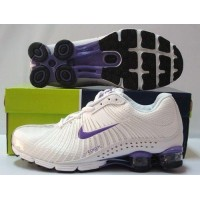 Womens Nike Shox R4 White Purple