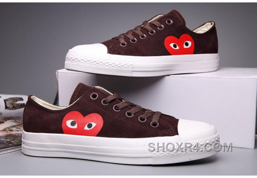 Brown CONVERSE Comme Des Garcons Suede Chuck Taylor All Star Low Christmas Deals EfASZ