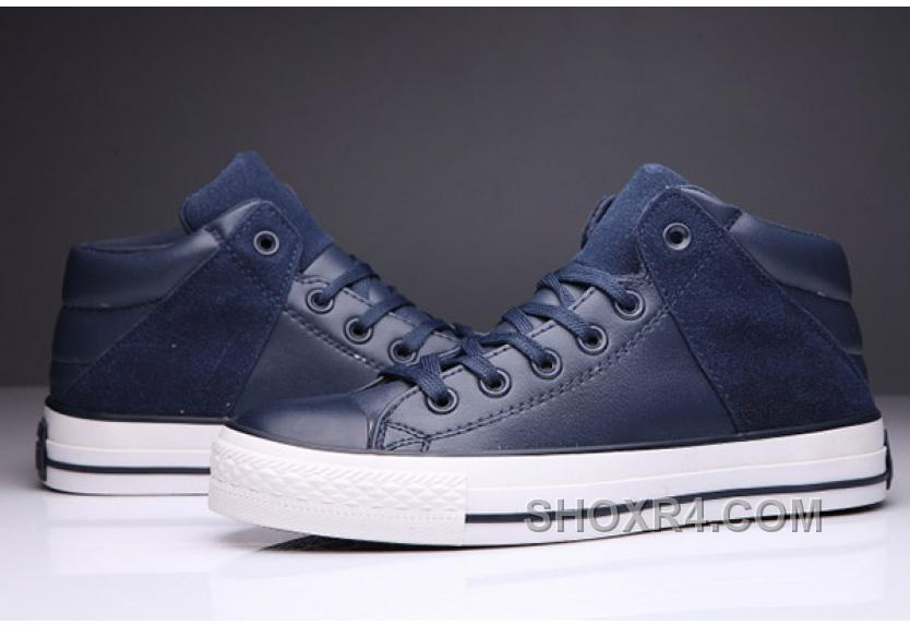 Blue CONVERSE Padded Collar All Star High Leather Terminator Genisys Chuck Taylor Top Deals NCp43