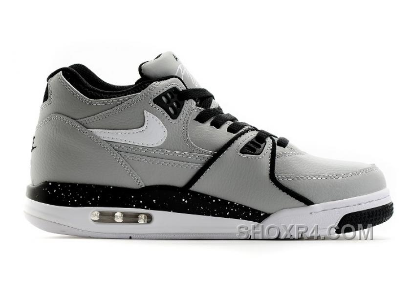 Nike Air Flight \u002789 Wolf Grey/Black-White Shoes For Hot Sale EAYCn